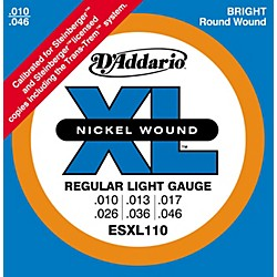 D'Addario ESXL110 Steinberger Regular Light Double Ball End Electric Guitar Strings (ESXL110)
