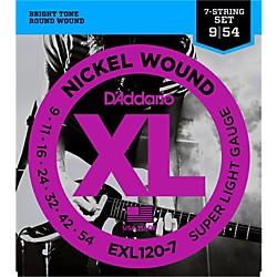D'Addario EXL120-7 Super Lite 7-String Electric Guitar Strings (EXL120-7)