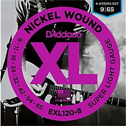 D'Addario EXL120-8 8-String Super Light Electric Guitar Strings (EXL120-8)