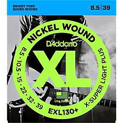 D'Addario EXL130+ Nickel XL Electric Guitar Strings (EXL130+)