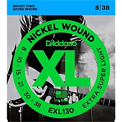 D'Addario EXL130 Nickel Extra Super Light Electric Guitar Strings (EXL130)