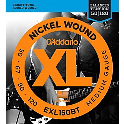 D'Addario EXL160BT Balanced Tension 50-120 Long Scale Electric Bass String Set (EXL160BT)