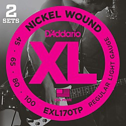D'Addario EXL170TP Round Wound Bass Guitar Strings 2-Pack (EXL170TP)