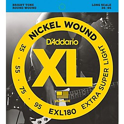 D'Addario EXL180 XL Extra Super Soft/Long Bass Strings (EXL180)