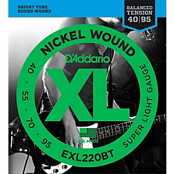 D'Addario EXL220BT Balanced Tension 40-95 Long Scale Electric Bass String Set (EXL220BT)