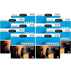 D'Addario EXP11 Coated 80/20 Bronze Light Acoustic Guitar Strings - 10 Pack (10 KIT - EXP11OLD)