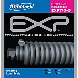 D'Addario EXP170-5 EXP Coated Soft 5-String Bass Strings (EXP170-5)