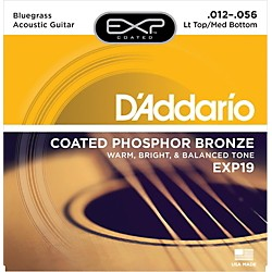 D'Addario EXP19 Coated Phosphor Bronze Bluegrass Acoustic Guitar Strings (EXP19)
