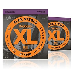 D'Addario FlexSteels Long Scale Bass Strings (50-105) - 2-Pack (EFX160-2P)