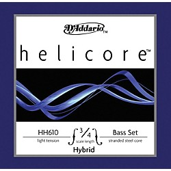 D'Addario HH610 Helicore Hybrid 3/4 Size Double Bass String Light Set (HH610 3/4L)