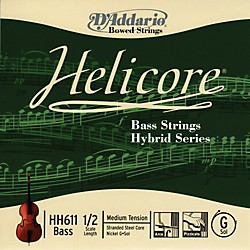 D'Addario HH611 Helicore Hybrid 1/2 Size Double Bass G String (HH611 1/2M)