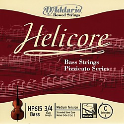D'Addario HP615 Helicore Pizzicato 3/4 Size Double Bass C (ext. E) String (HP615 3/4M)