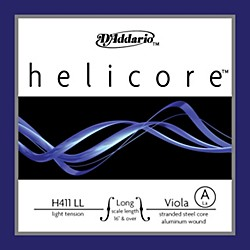 "D'Addario Helicore 16+"" Long Scale Light Viola Strings (H411 LL)"
