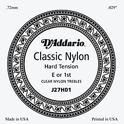 D'Addario J27H01 Clear Nylon Classical Guitar 1st String (J27H01)