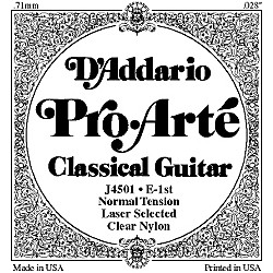 D'Addario J45 E-1 Pro-Arte Clear Normal Single Classical Guitar String (J4501)