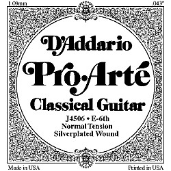 D'Addario J45 E-6 Pro-Arte Composite Normal LP Single Classical Guitar String (J4506LP)