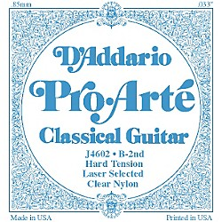 D'Addario J46 B-2 Pro-Arte Clear Hard Single Classical Guitar String (J4602)