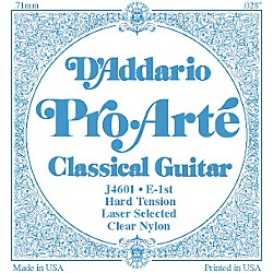 D'Addario J46 E-1 Pro-Arte Clear Hard Single Classical Guitar String (J4601)
