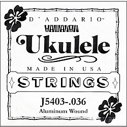 D'Addario J5403 Aluminum Wound Single Ukulele String (J5403)