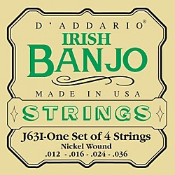 D'Addario J63i 4-String Irish Banjo Strings (J63i)