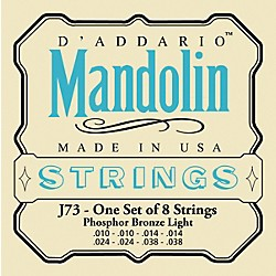 D'Addario J73 Phosphor Bronze Light Mandolin Strings (J73)