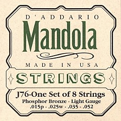 D'Addario J76 Mandola PB Light Mandolin Strings (J76)