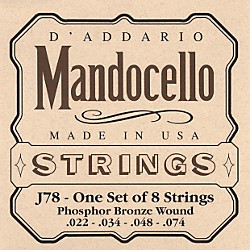 D'Addario J78 Phosphor Bronze Wound Mandocello String Set (J78)