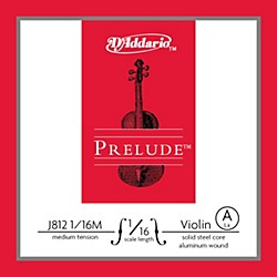 D'Addario J812 Prelude 1/16 Violin Single A String Aluminum Wound (J812 1/16M)