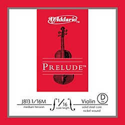 D'Addario J813 Prelude 1/16 Violin Single D String Nickel Wound (J813 1/16M)