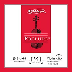 D'Addario J813 Prelude 4/4 Violin Single D String Nickel Wound (J813 4/4H)