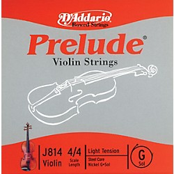 D'Addario J814 Prelude 4/4 Violin Single G String Nickel Wound (J814 4/4L)
