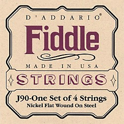 D'Addario J90 Fiddle 4/4 Size Chrome/Steel String Set (J90)