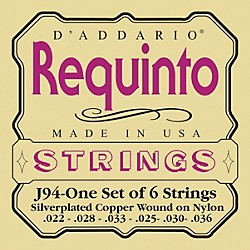 D'Addario J94 Silver-Plated Wound Requinto String Set (J94)