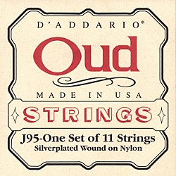 D'Addario J95 Silver-Plated Wound Oud String Set (J95)