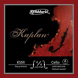 D'Addario Kaplan 4/4 Size Heavy Cello Strings (KS511 4/4H)