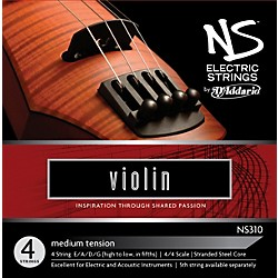 D'Addario NS310 NS Electric Violin Strings (NS310)