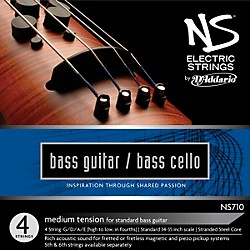 D'Addario NS710 NS Electric Bass/Cello Strings (NS710)