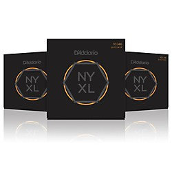 D'Addario NYXL Light Electric Guitar Strings (10-46) - 3 Pack (NYXL1046-3P)