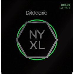 D'Addario NYXL Nickel Wound Extra Super Light Electric Guitar Strings (8-38) (NYXL0838)