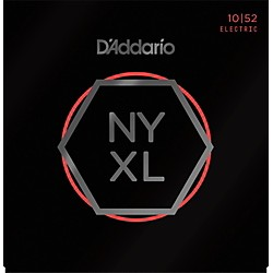 D'Addario NYXL Nickel Wound Light Top / Heavy Bottom Electric Guitar Strings (10-52) (NYXL1052)
