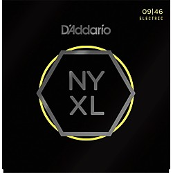 D'Addario NYXL Nickel Wound Super Light Top / Regular Bottom Electric Guitar Strings (9-46) (NYXL0946)