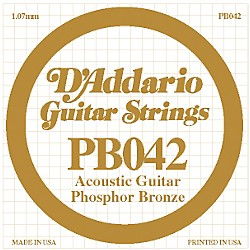 D'Addario PB042 Phosphor Bronze Guitar Strings (PB042)