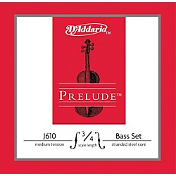 D'Addario Prelude 3/4 Size Double Bass String Set (J610 3/4M)