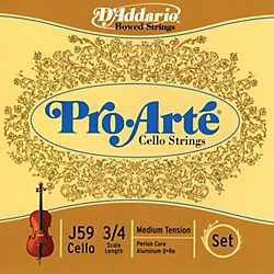 D'Addario Pro-Arte 3/4 Size Cello String Set (J59 3/4M)