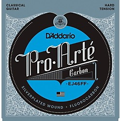D'Addario Pro-Arte Carbon with Dynacore Basses - Hard Tension Classical Guitar Strings (EJ46FFHT)