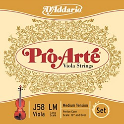 D'Addario Pro-Arte Long Scale Viola String Set (J58 lm)
