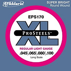 D'Addario ProSteels EPS170 Regular Light Long Scale Bass Strings (EPS170)