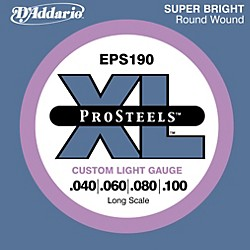 D'Addario ProSteels EPS190 Custom Light Long Scale Bass Strings (EPS190)