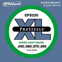 D'Addario ProSteels EPS220 Super Light Gauge Long Scale Bass Strings (EPS220)