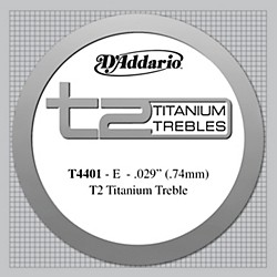 D'Addario T4401 T2 Titanium X-Hard Single Classical Guitar String (T4401)